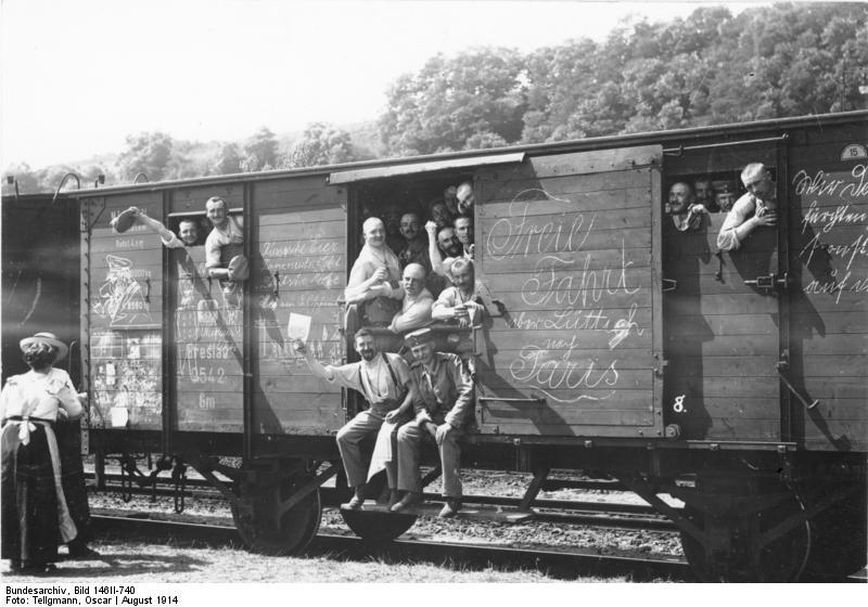 Mobilmachung, Truppentransport mit der Bahn